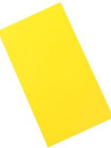 Chapa de PVC 0,25mm amarelo médio 0,62cmx1,20cm