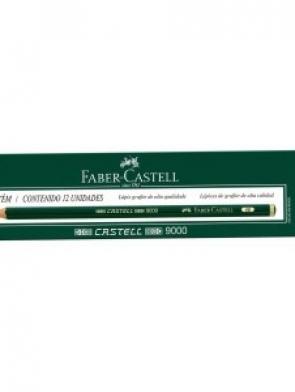 LÁPIS 6B FABER CASTELL COM 12 UNIDADES